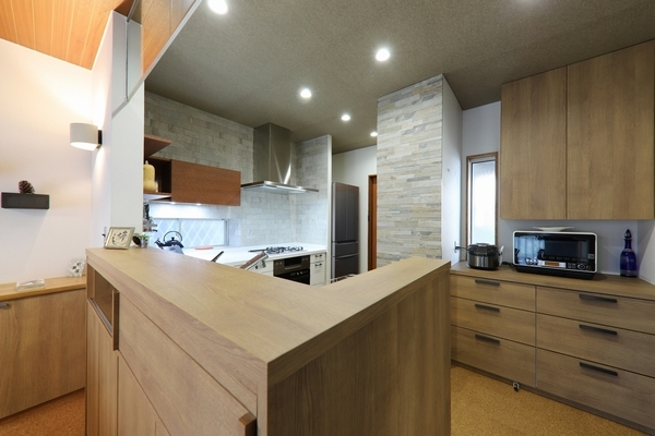 L型キッチン2