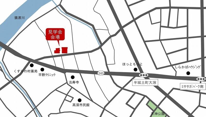刈谷市高須町 完成&構造見学会 地図