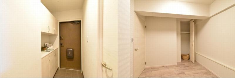 玄関と居室