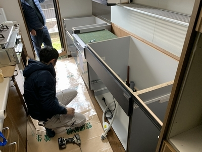 キッチン施工