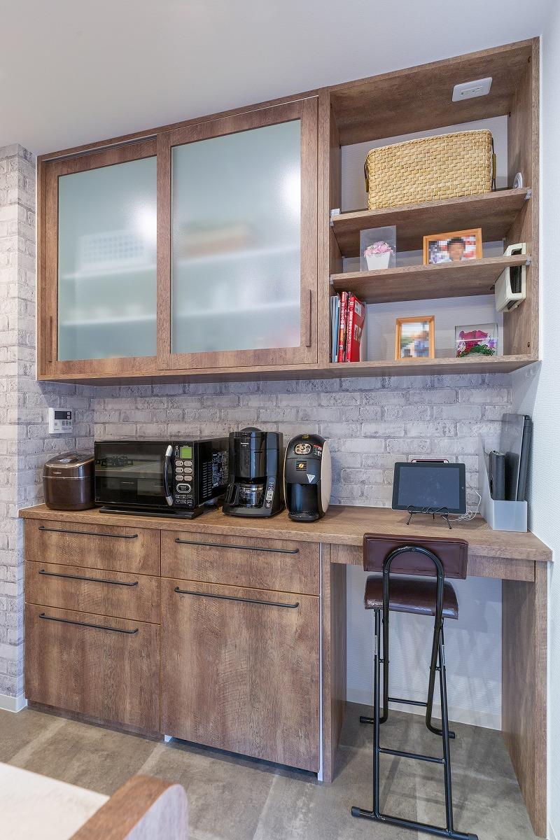刈谷市 マンションリノベーション お客様の声 キッチン造作棚