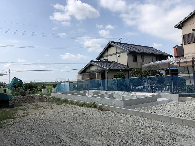 泉田町新築工事現場基礎工事