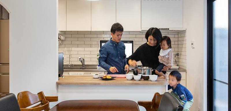 愛知県刈谷市S様邸 戸建てリノベ『子どもとおやつ作り、友人とパーティ。キッチンカンターから広がる暮らし』