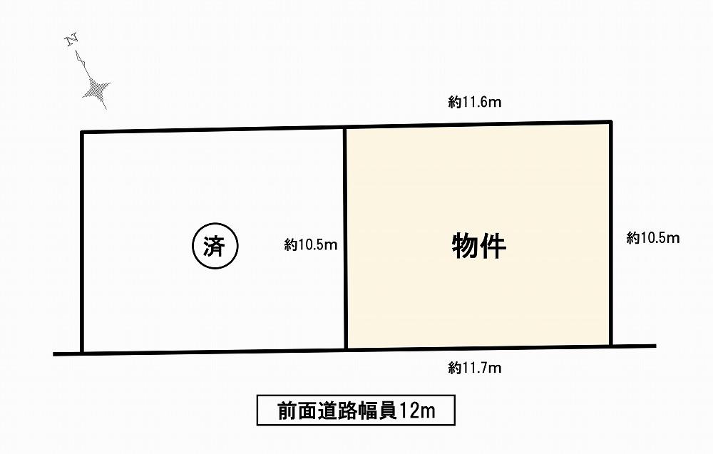刈谷市板倉町 土地情報 区画図