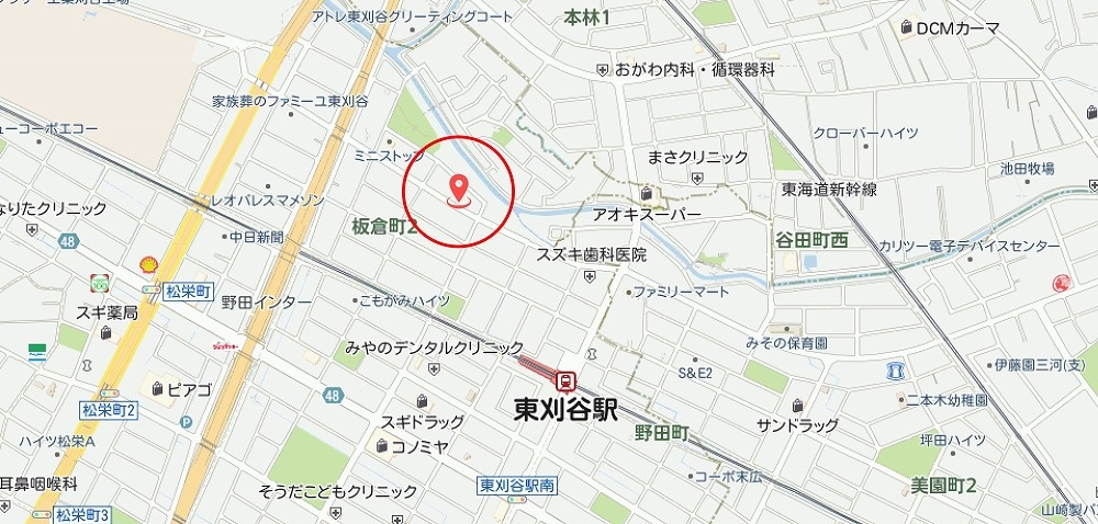 刈谷市板倉町 土地情報 周辺地図