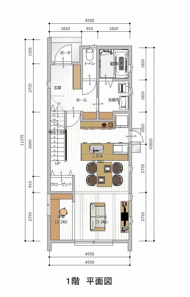 刈谷市泉田町 A区画 1階平面図