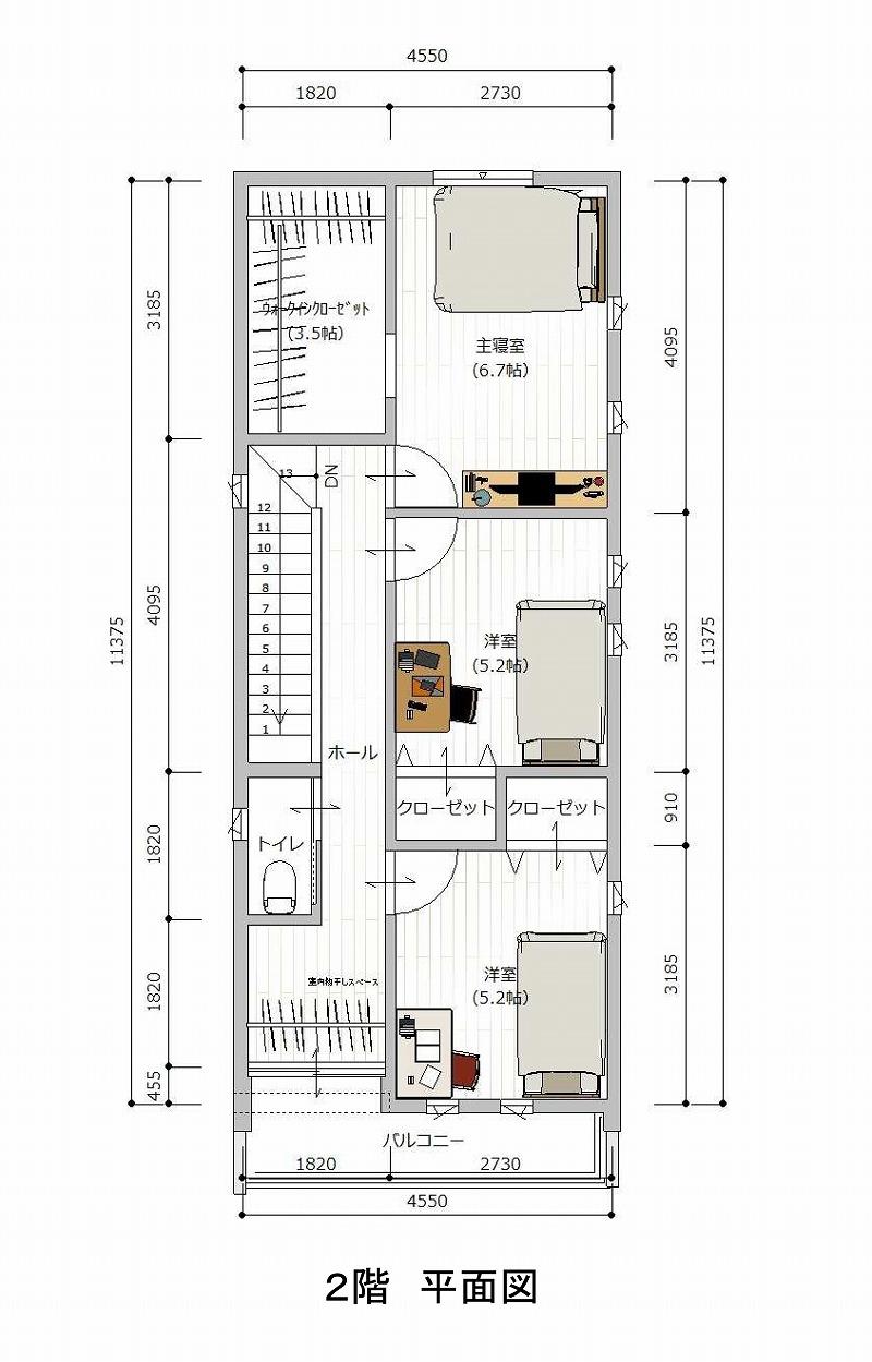 刈谷市泉田町 A区画 2階平面図