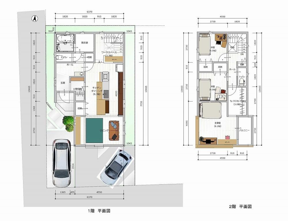 刈谷市高須町 建売住宅 平面図