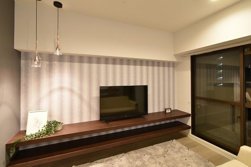 名古屋市熱田区 マンションリノベ TVボード