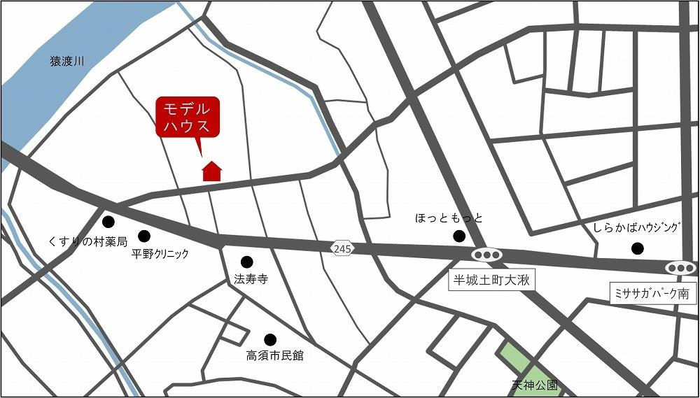 刈谷市高須町モデルハウス 地図