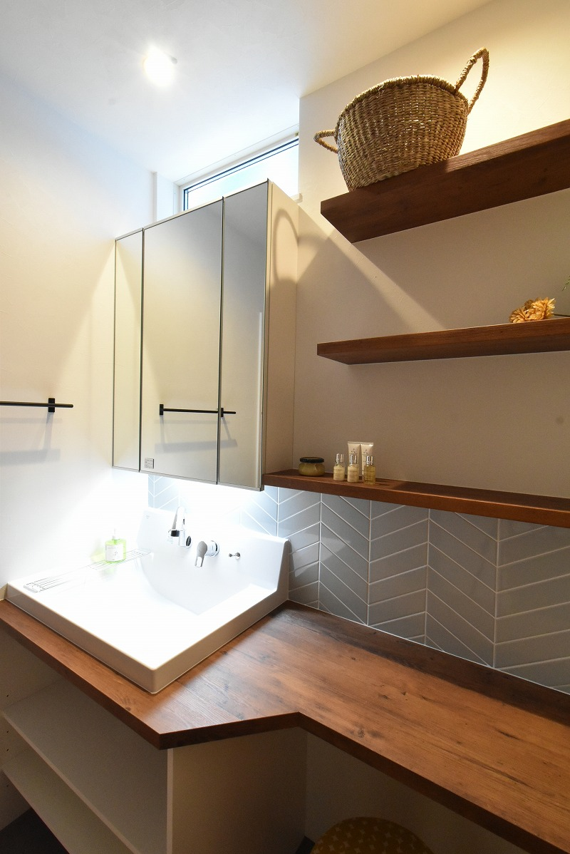 名古屋市緑区 注文住宅 洗面化粧台